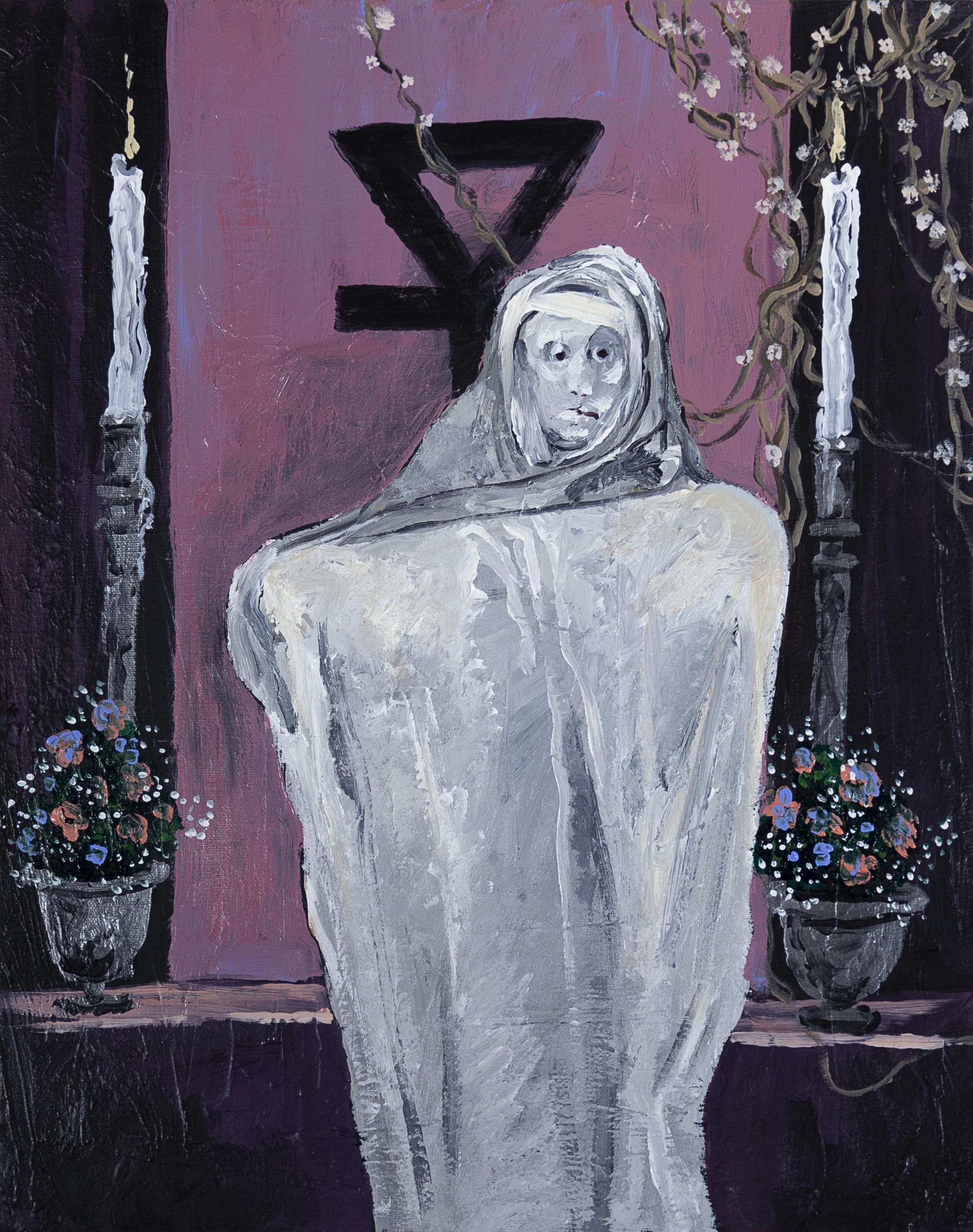 "Supplicant , 2017, 15x20"" acrylic on canvas"