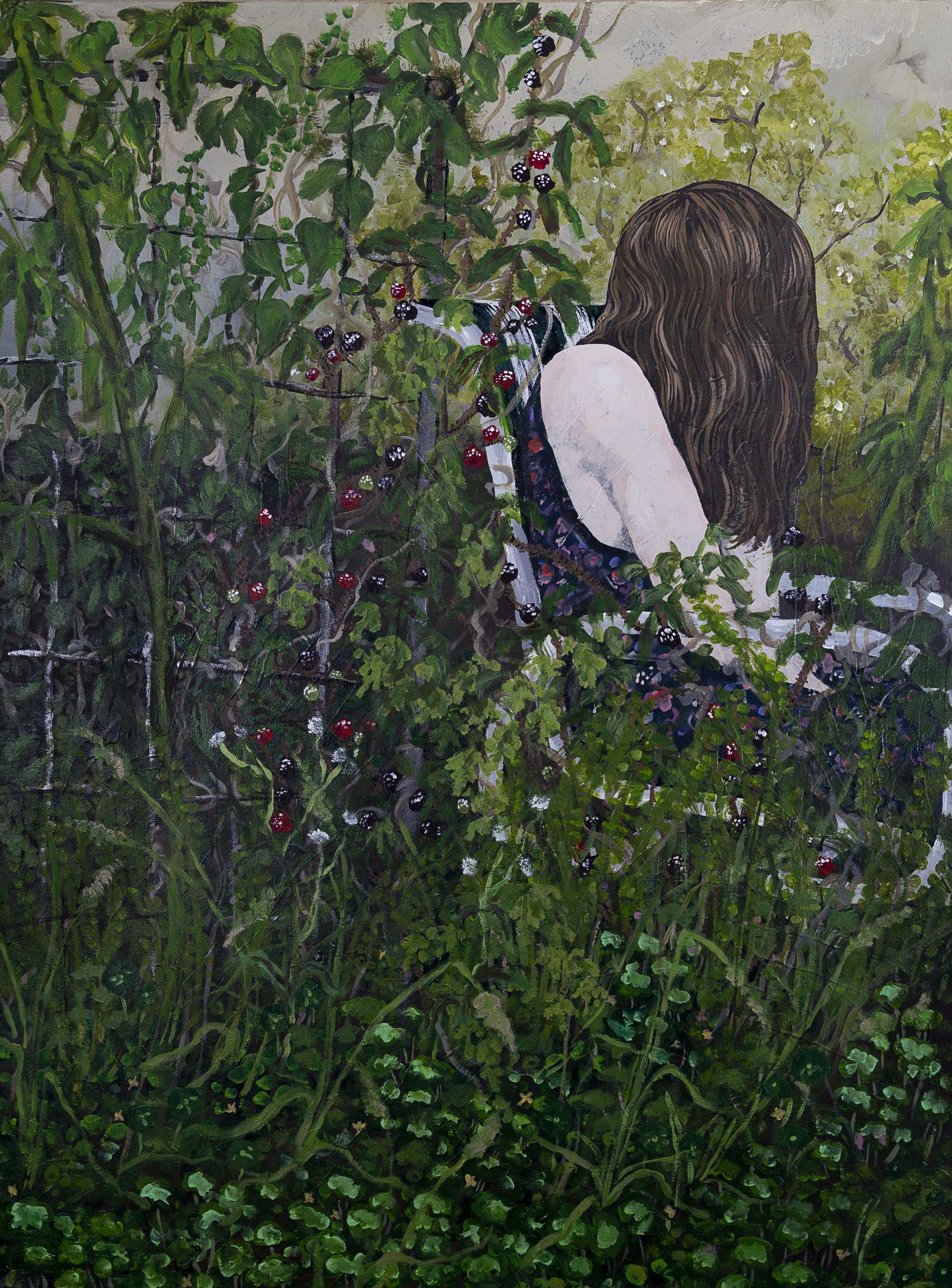 "Sleeping Sickness , 2017, 36x48"" acrylic on canvas"