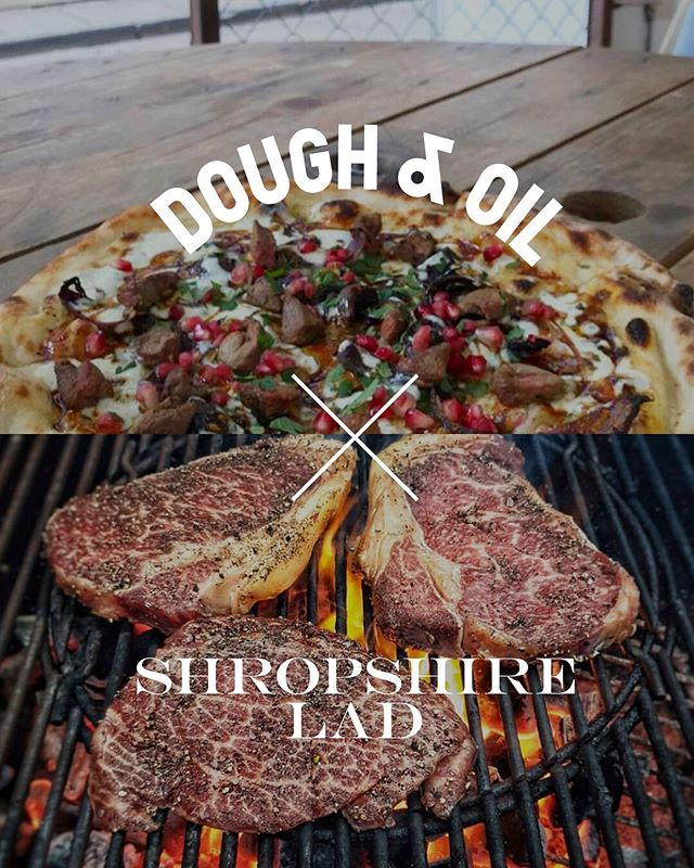 Save the date folks...SATURDAY JULY 20TH - Menu takeover by @shropshire.lad Badass outdoor BBQ & sourdough pizza. Live DJ. 1-10PM. Save the date #doughandoil #shropshirelad #collaboration #bbq #sourdoughpizza