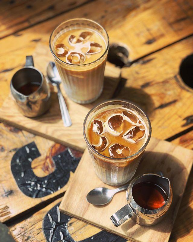 Ice slice baby 😝😎 caffeine cooler #doughandoil #icedcoffee #allpressespresso