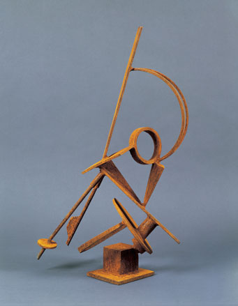 Joel Graesser: # Sculpture and Drawings	 # September 6 – October 13, 2007 <alt: Brown geometric sculpture</>