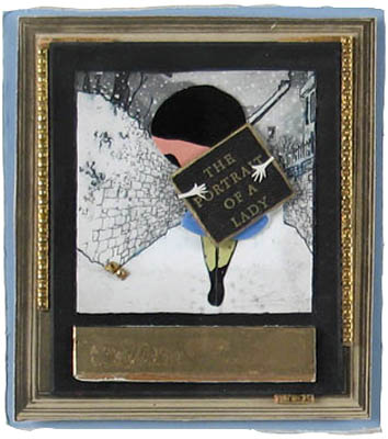 Elizabeth Schoettle: # Polaroid / Collages # June 12 – July 30, 2007 <alt: Photo collage in gold frame</>