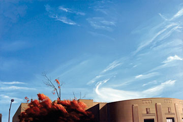 Peter Lyons: # Recent Works # April 22 – June 4, 2005 <alt: Blue sky with autumnal trees</>