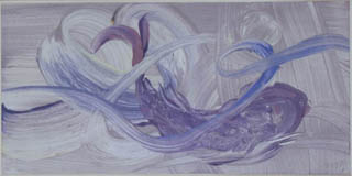 Abstract purple and blue brushstrokes