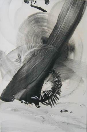 Abstract black brushstrokes