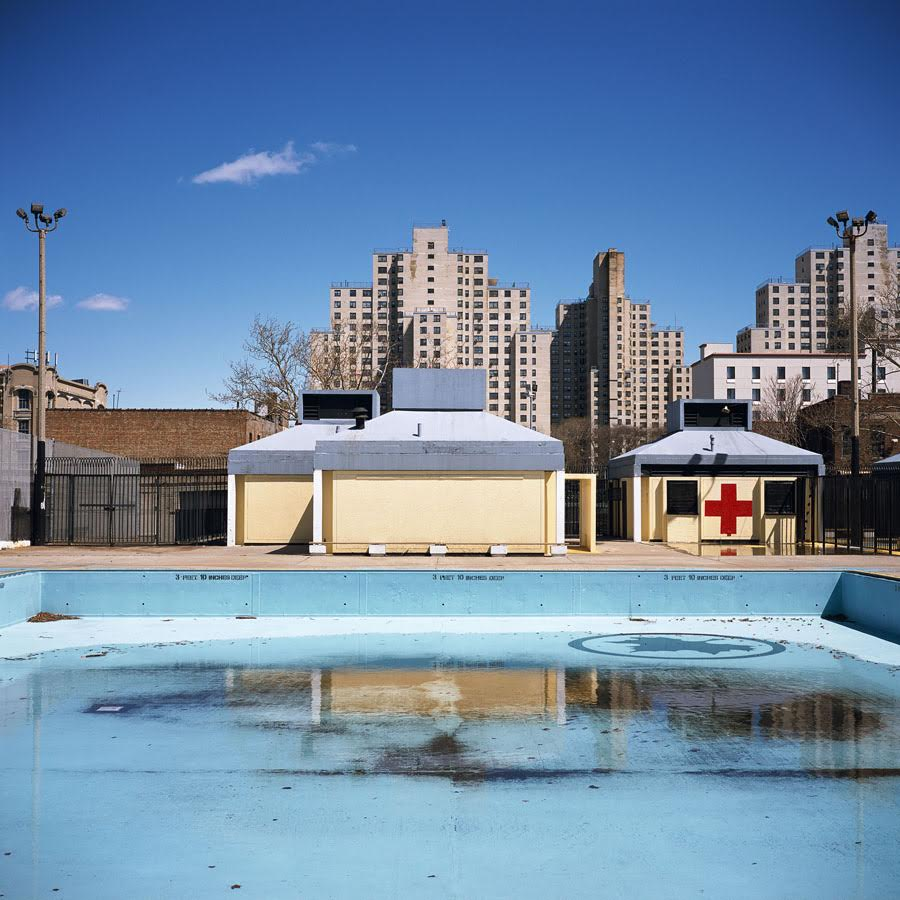 Douglas and DeGraw Pool, Brooklyn,  2011 Photograph 20 x 20 inches  Inquire