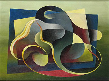 Abstract curving shapes