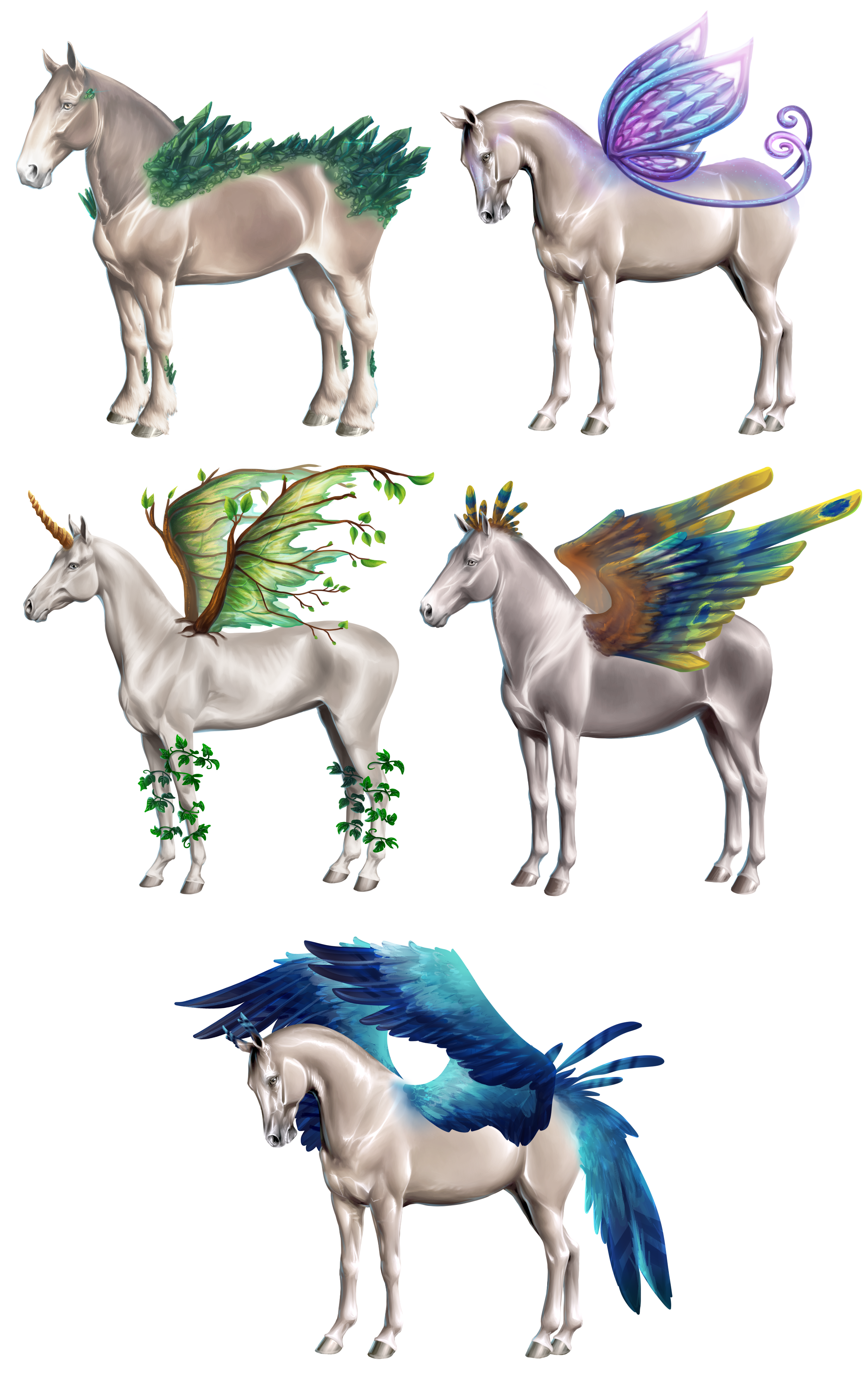 Horse genetics. Must be able to fit all horse breed bases with minimal edits. **Horse bases not by me
