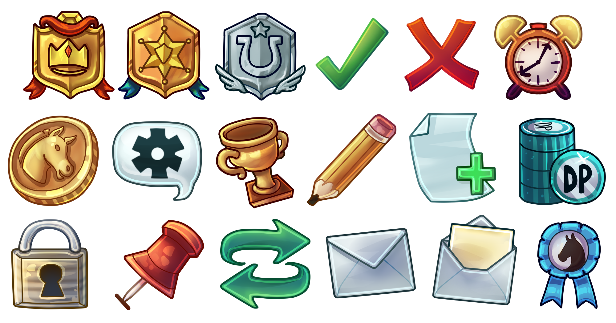 Custom icons to be used throughout game.