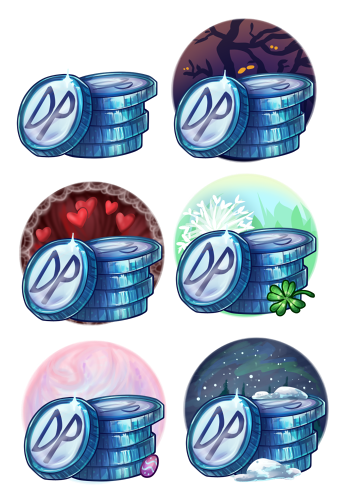 Currency stacks also needed backgrounds for holiday promotions.