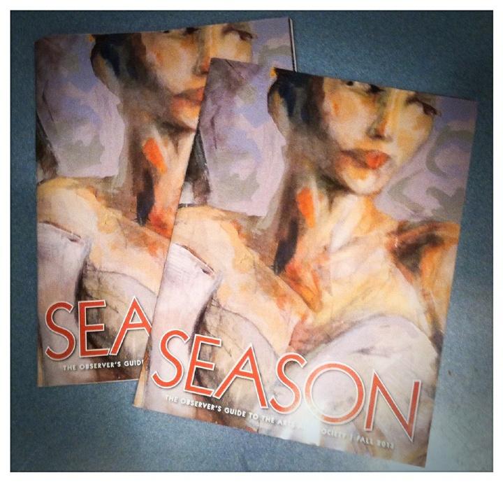 Cover of Season Magazine, 2013