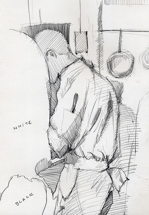 Tim Jaeger, Study of Chef in Kitchen, 2010