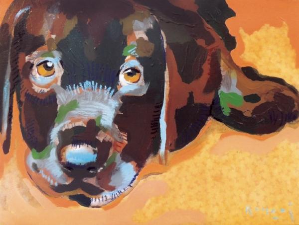 "Tim Jaeger, ""Loyalty""/June- Southeast Guide Dogs 2016 Calendar"