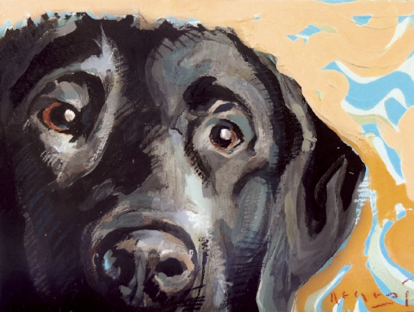 """Tim Jaeger, """"Courage""""/February- Southeast Guide Dogs 2016 Calendar"""