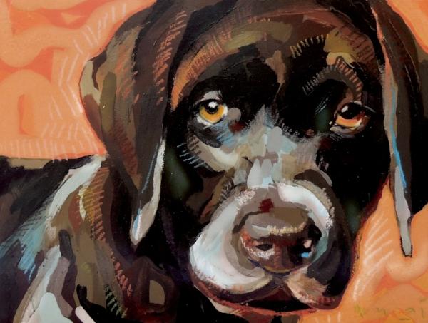"Tim Jaeger, ""Courage""/October- Southeast Guide Dogs 2016 Calendar"