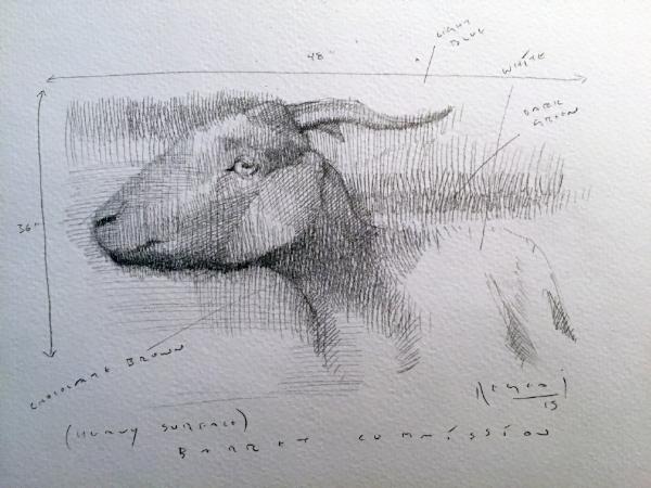 Tim Jaeger, Goat Study, 2015