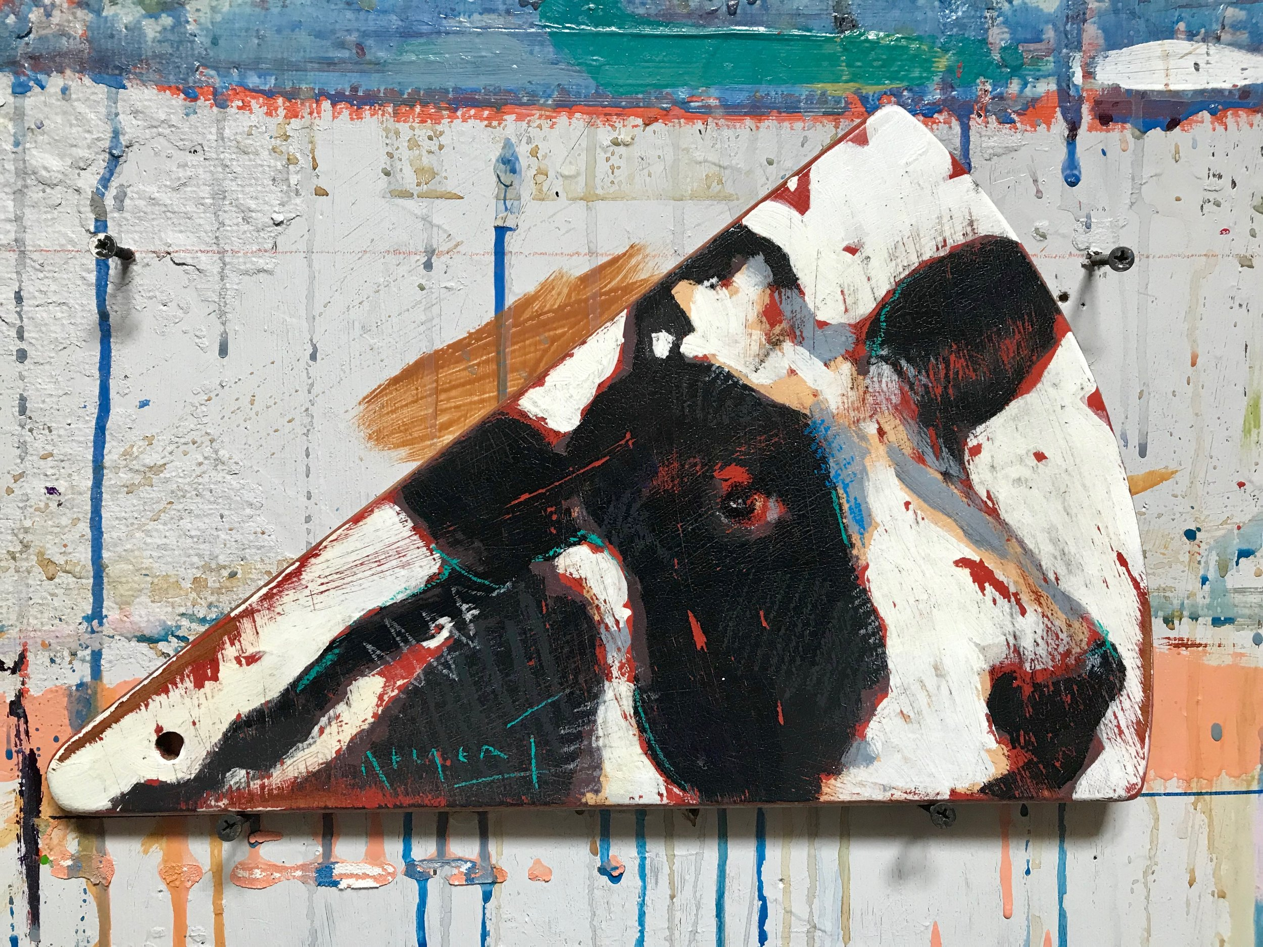 TIM JAEGER, COW CHEESBOARD, 2019