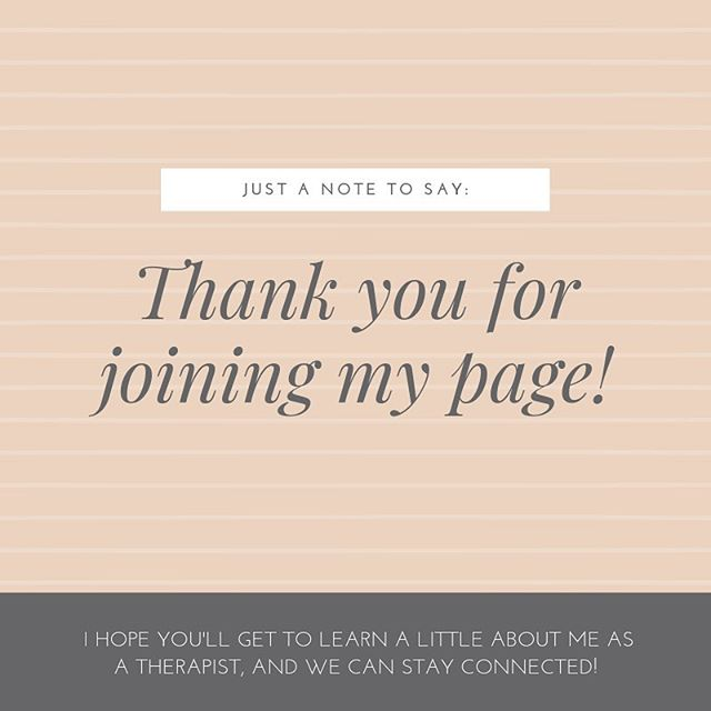 I appreciate you joining me on my journey as a marriage and family therapist!