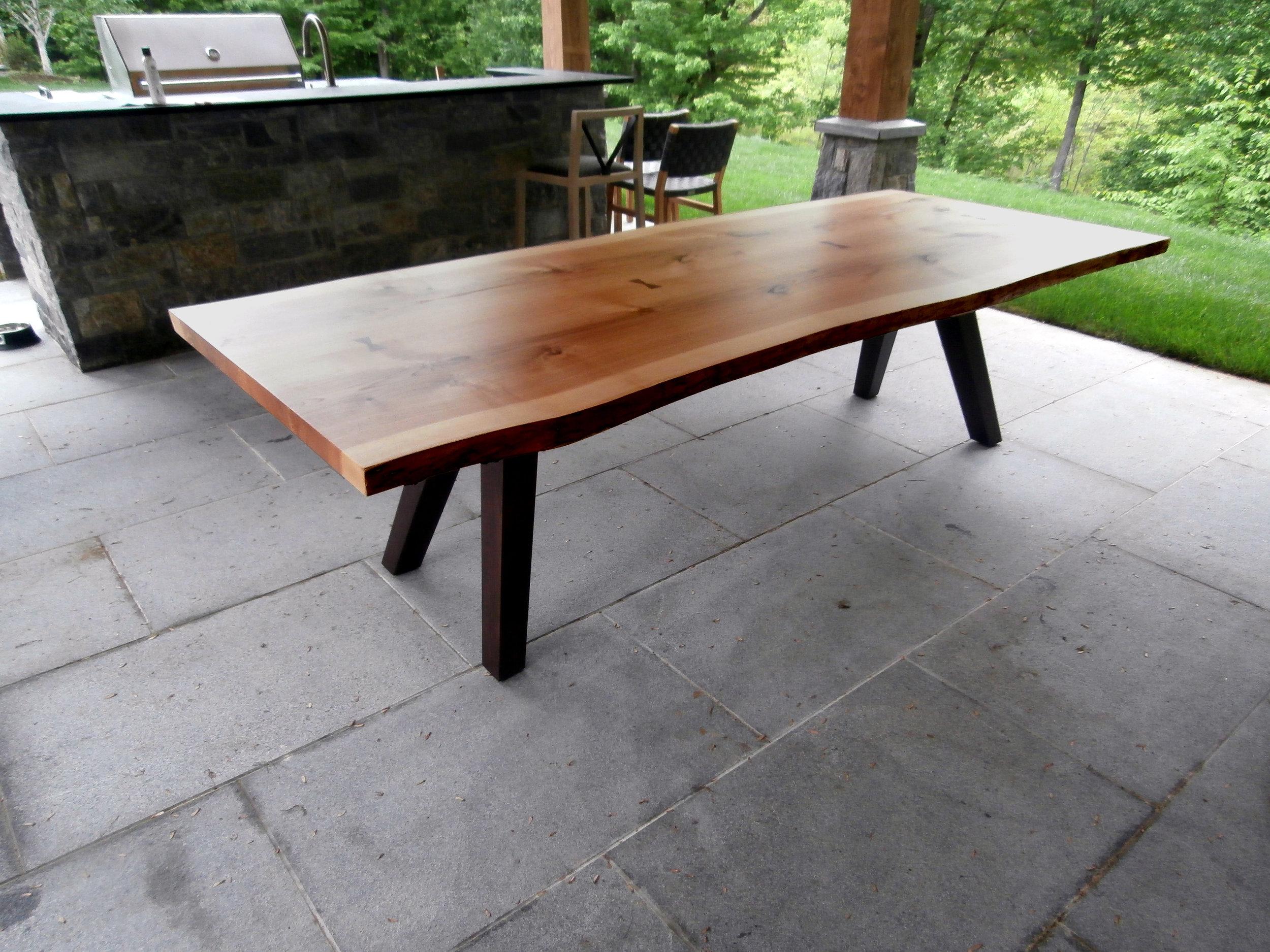 Ambrosia Maple Live Edge Table