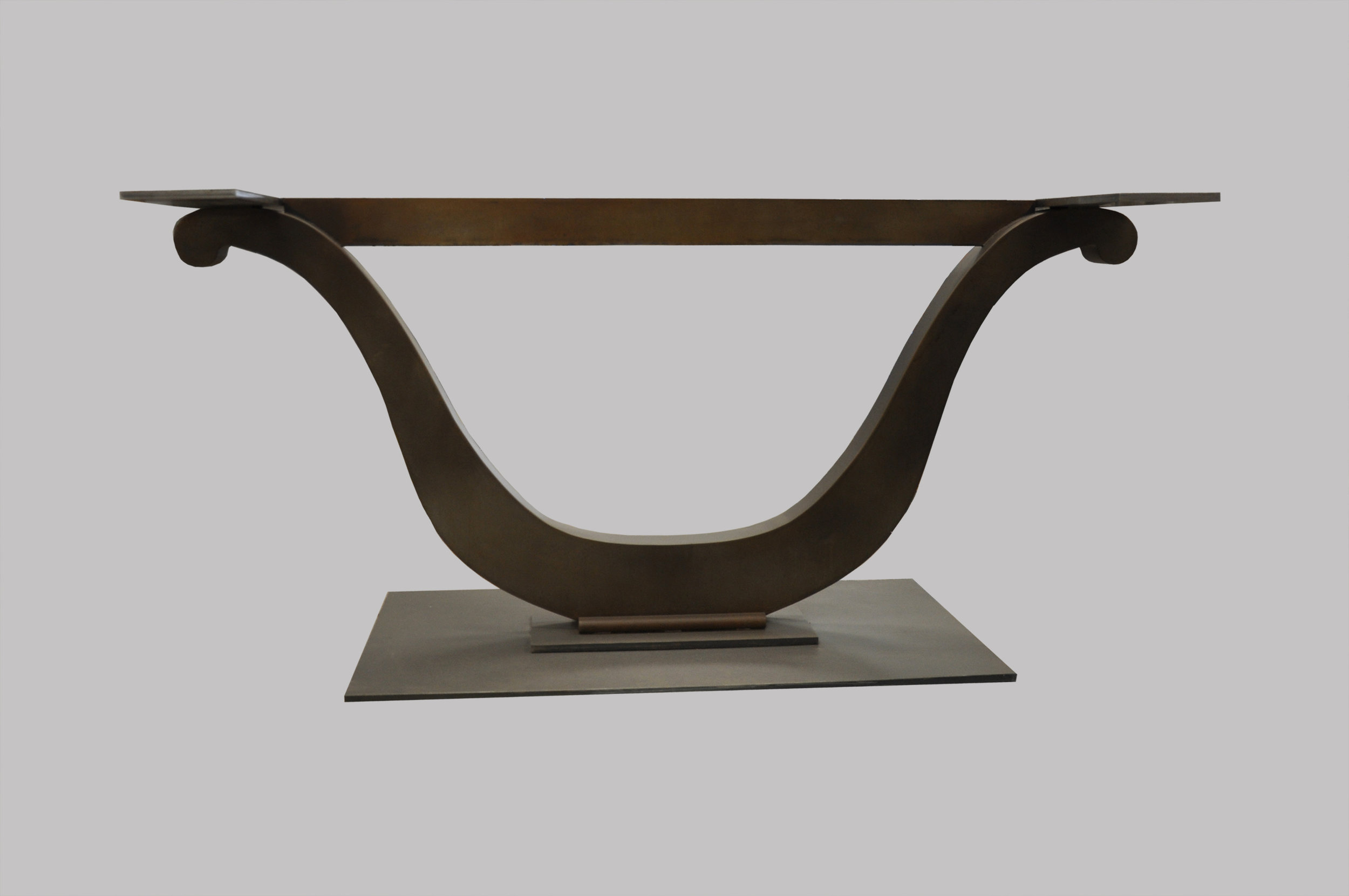 Harp Table Base Side View