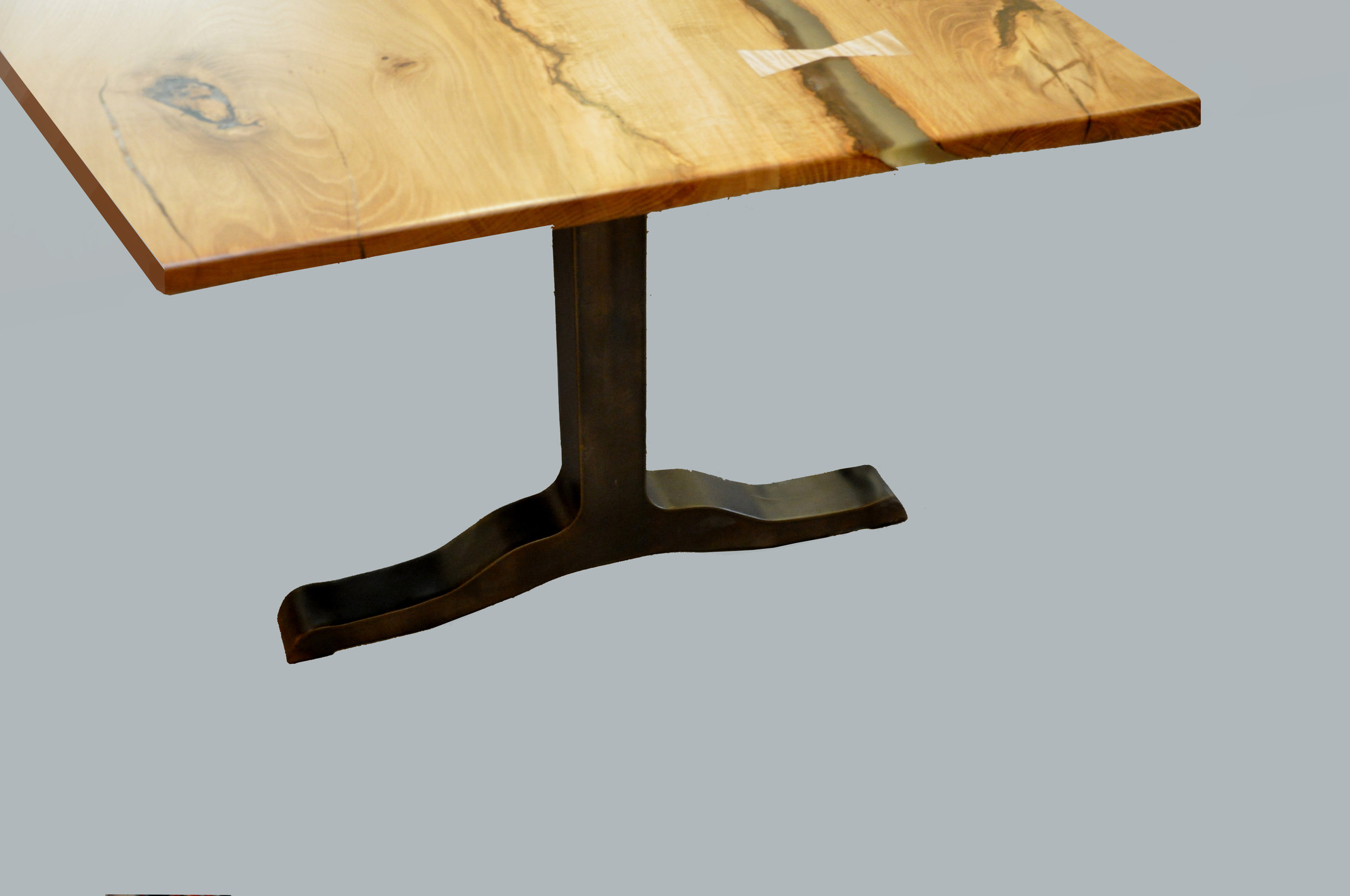 Santa Fe Table Base Dark Bronze
