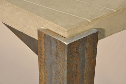 Tapered Steel Table Base