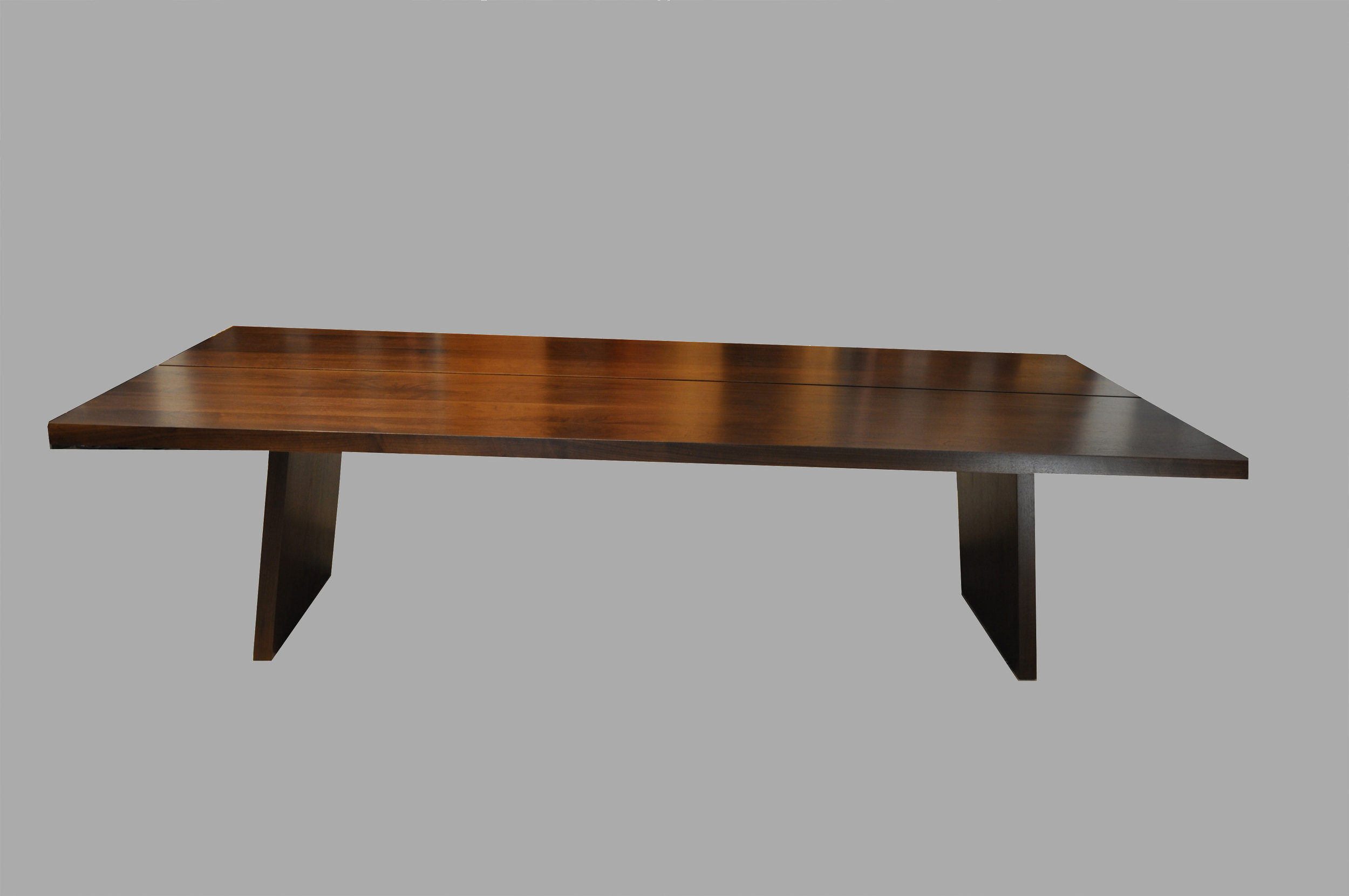 Trap Style Table Base Walnut