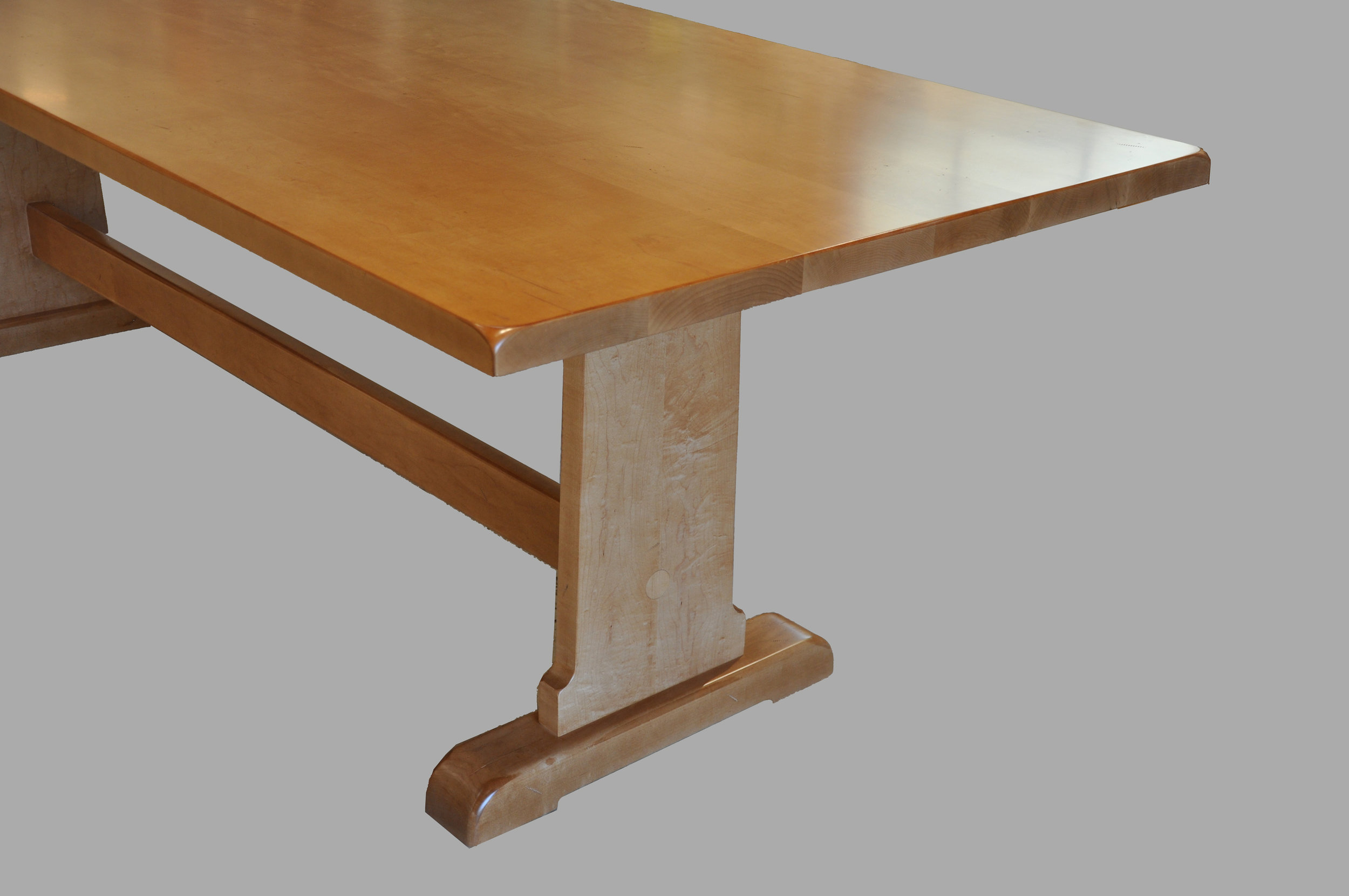 Trestle Table Base Closeup