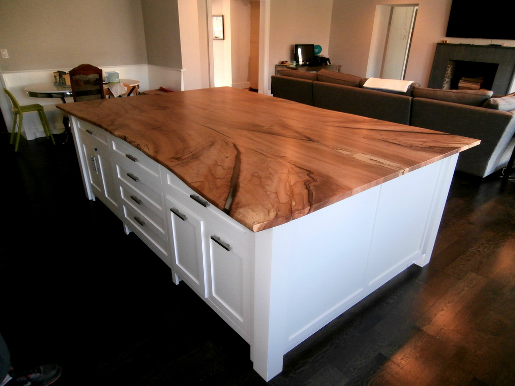 Copy of Figured Maple Live Edge Island