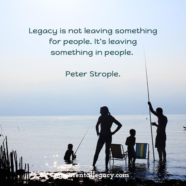 What legacy are you creating in the people closest to you?⠀ ⠀ To learn more about our resources on creating a legacy click on the link in our bio.
