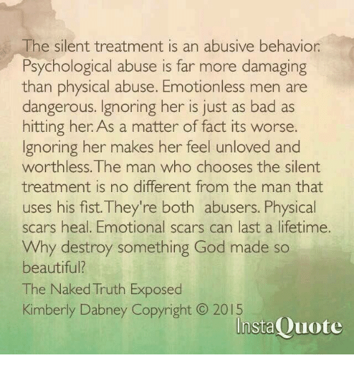 Treatment silent men give why the The Silent