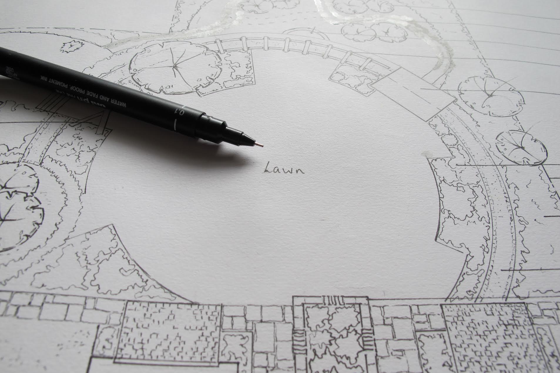 Hand Drawn Garden Design
