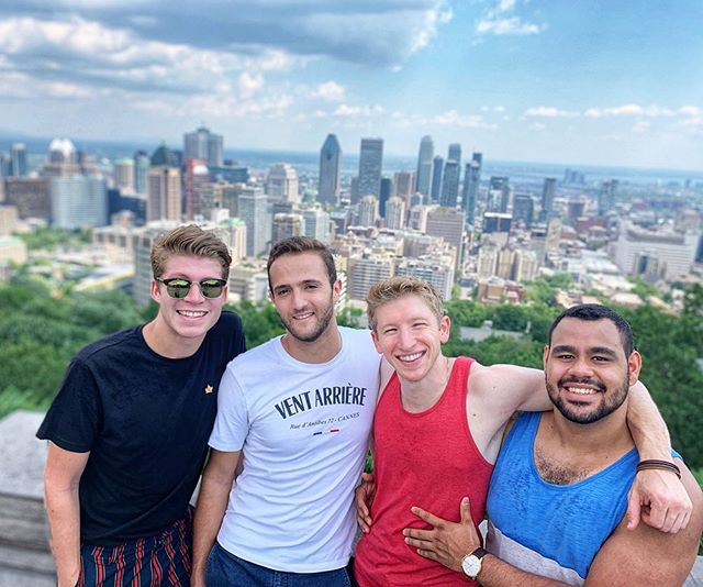 *Loucher* . . . . I may be squinty but Montreal gave some stellar views. Atop Mt. Royal itself, fireworks from a ferris wheel, my beaux (I'm so French 🤪) and a dining experience where I couldn't see anything! T'was a great time. I luv summer! #mattyluvs #montreal #summerviews