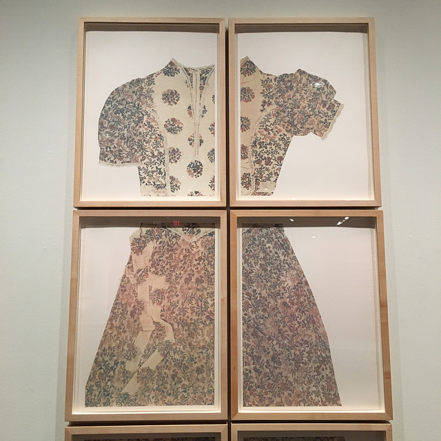 "Close-up of Joan Lyons' ""Prom"" (1975), on display at the Harry Ransom Center."
