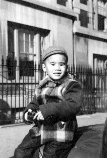 Wu and Yuan's son Vincent as a child in New York City.