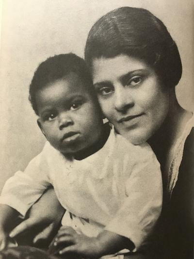 Essie with Paul Jr., December 1928.