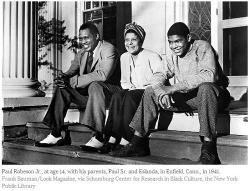 The Robeson family at their home in Connecticut, 1940s.