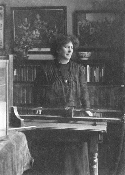 Hertha Ayrton in her home lab.