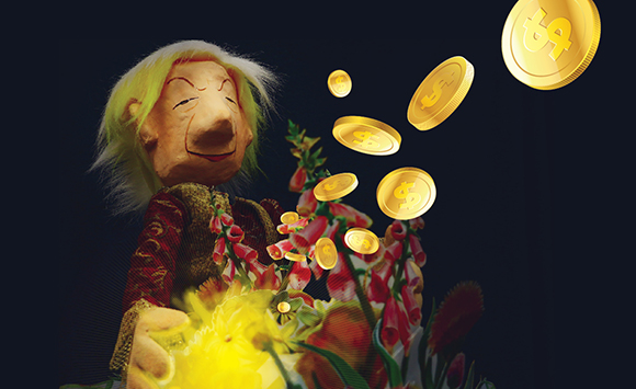 The above image is the poster of the King Midas' puppet show.****