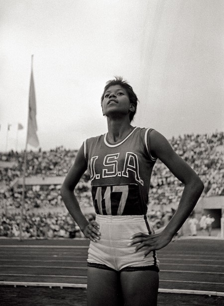 Rudolph at the 1960 Olympics.