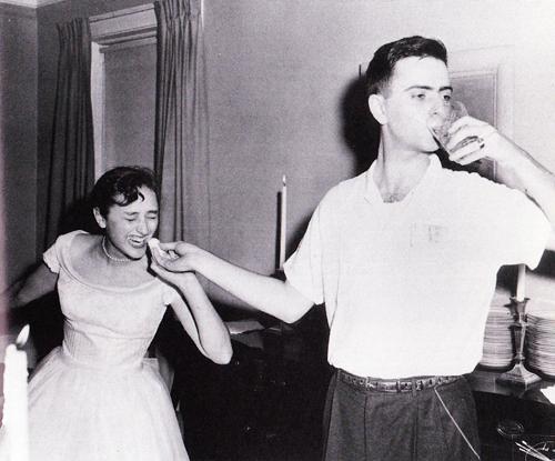 Lynn and Carl on their wedding day.