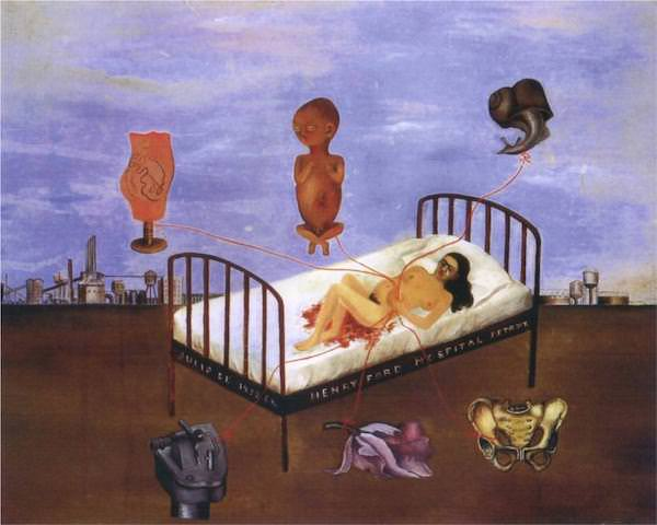 Frida Kahlo,  Henry Ford Hospital  (1932).