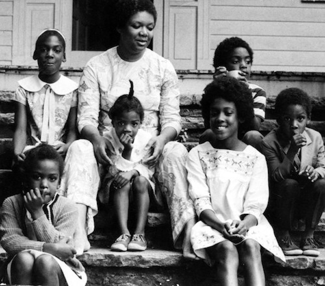 Clifton with her six children, late 1960s.