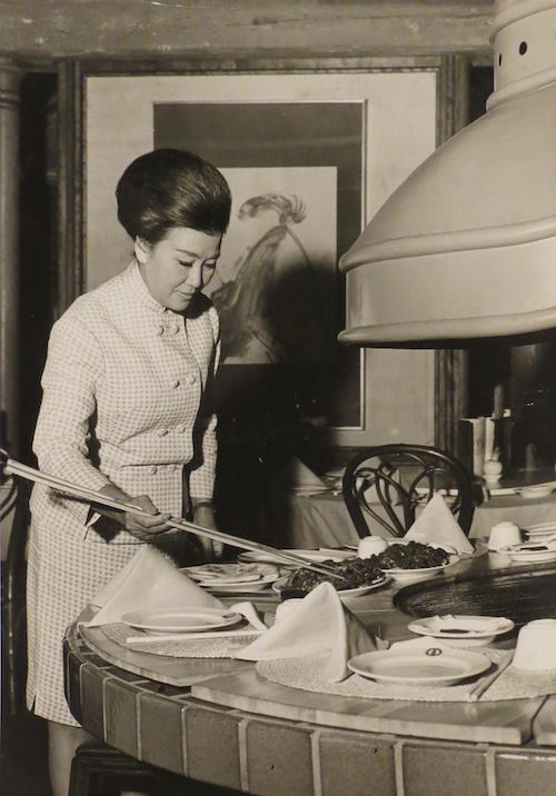 Cecilia Chiang at The Mandarin, circa 1968.