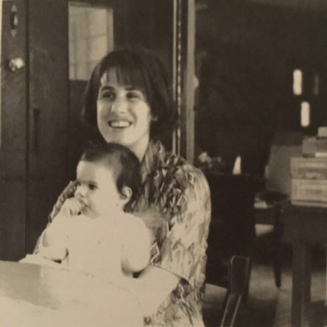 Wolfert with daughter Leila, 1963.