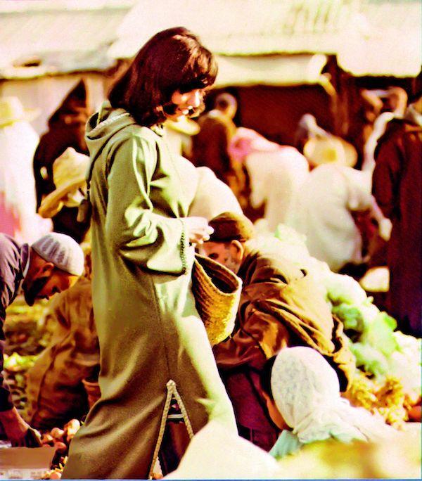 Wolfert in a Moroccan market (early 1970s).