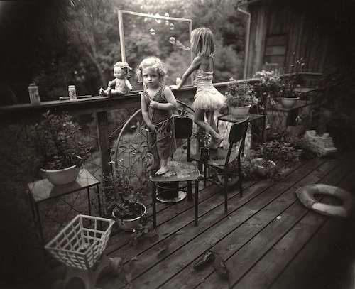 "Sally Mann, ""Blowing Bubbles"" (1987)."