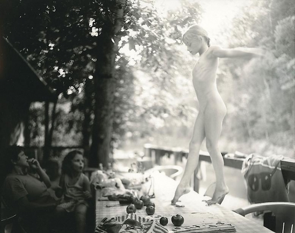 "Sally Mann, ""The Perfect Tomato"" (1990). Mann was especially criticized for the nude photographs, like this one of Jessie, included in  Immediate Family ."