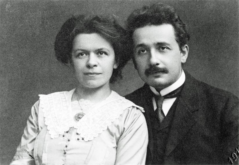 Marić and Einstein.
