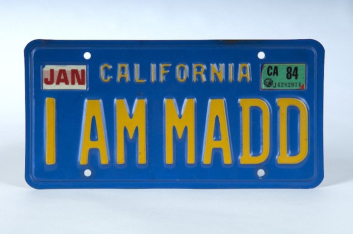 License plate gifted by Candace Lightner to the Smithsonian's  National Museum of American History .
